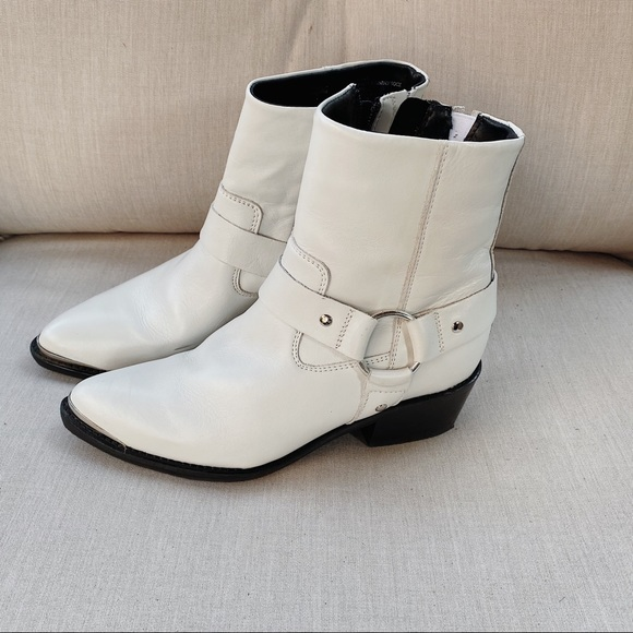 steve madden white ankle booties